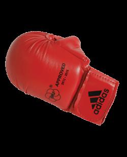 adidas Karate Faustschutz WKF + Daumen rot 661.23