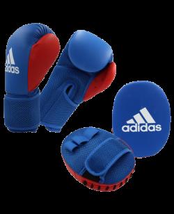 adidas Kids Boxing Kit 2 blau/rot onesize mit Handpratzen