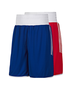 adidas Reversible Punch Boxing Short - men rot/blau wendbar