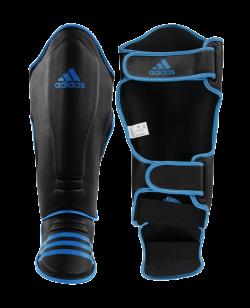 adidas Super Pro Schienbein Ristschutz schwarz/blau adiGSS011