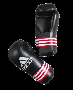 adidas Kickboxhandschuhe Semi Contact Gloves schwarz/rot adiBFC01