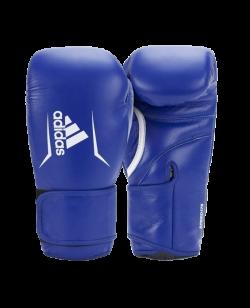 adidas Boxhandschuhe SPEED 175 blau Rindsleder ADISBG175