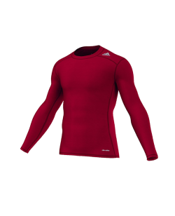 adidas TECHFIT Langarm TF BASE LS rot AJ5015 Compression Shirt