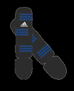 adidas Textile Shin Instep Guard schwarz/blau adiGSS013