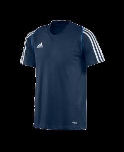 adidas T12 Team Shirt men SS Kurzarm blau adi X12937