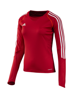 adidas T12 Clima Cool Shirt Langarm WOMAN rot adi X13171