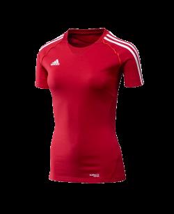 adidas T12 Team Shirt woman SS Kurzarm rot adi X13801