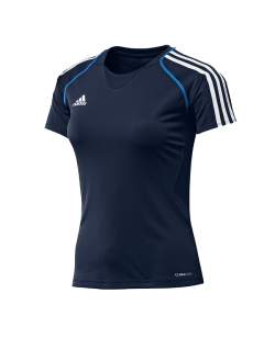 adidas T12 Team Shirt woman SS Kurzarm blau adi X13825