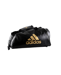 adidas WAKO Sporttasche Zipper Bag 2 in 1 schwarz/gold adiACC051