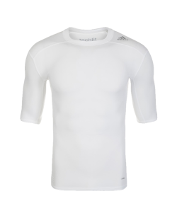 adidas Compression Shirt TECHFIT Base SS Kurzarm weiss AJ4967