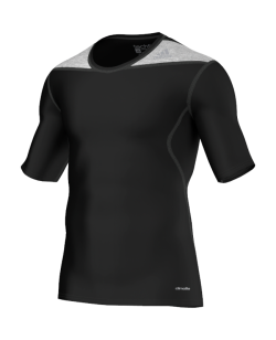 adidas Compression Shirt TECHFIT Base Kurzarm schwarz - D82011