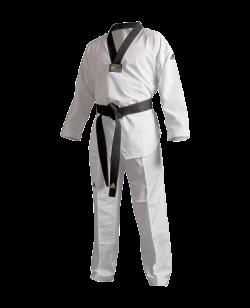 adidas ADI FLEX Taekwondo Anzug schwarzes Revers  ADITFL01