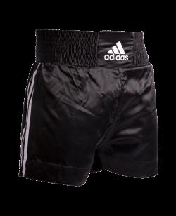 adidas Thaibox Short Schrift Gr. L schwarz mit 3 Streifen adiSTH09 L
