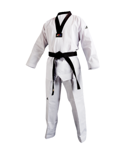 adiTCH02 TKD Champion II Uniform schwarzes Revers