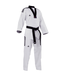 adidas GRAND MASTER Taekwondo Anzug 180cm schwarzes Revers adiTGM01 180cm