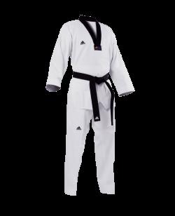 adidas Taekwondo Anzug GRAND MASTER schwarzes Revers, adiTGM01
