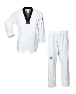 adidas Taekwondo Anzug Fighter Damen schwarzes Revers aditld01
