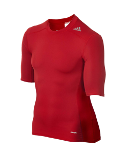 adidas Compression Shirt TECHFIT Base SS Kurzarm rot AJ4968
