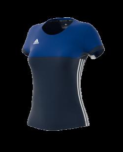 adidas T16 Climacool TEE Shirt WOMAN blau AJ5440