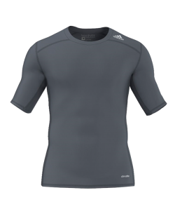 adidas Compression Shirt TECHFIT Base SS Kurzarm grau AY8381