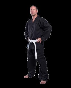 FW SAMURAI 12oz Self Defense Anzug schwarz Segeltuch