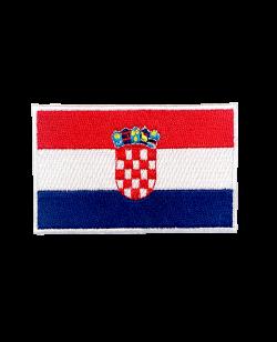 Aufnäher Stickabzeichen Kroatien Flagge Gr. 8x5