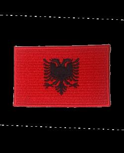 Aufnäher Stickabzeichen Albanien Flagge Gr. 8x5