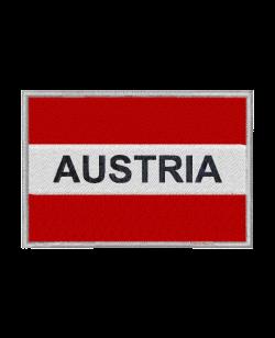 Aufnäher Stickabzeichen Austria mit Schrift