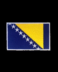 Aufnäher Stickabzeichen Bosnien Flagge Gr. 8x5