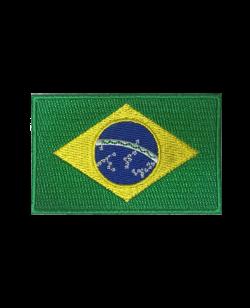Aufnäher Stickabzeichen Brasilien Flagge Gr. 8x5