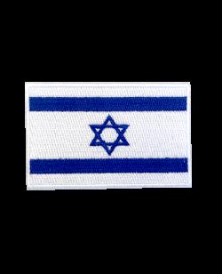 Aufnäher Stickabzeichen Israel Flagge Gr. 8x5