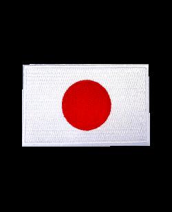 Aufnäher Stickabzeichen Japan Flagge Gr. 8x5