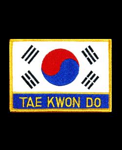Aufnäher Stickabzeichen Korea Taekwondo