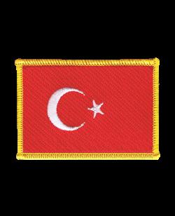 Aufnäher Stickabzeichen Türkei Flagge