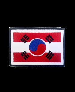 Aufnäher Stickabzeichen Austria Südkorea Gr. L