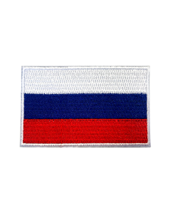 Aufnäher Stickabzeichen Russland Flagge Gr. 8x5