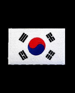 Aufnäher Stickabzeichen Korea Flagge Gr. 8x5