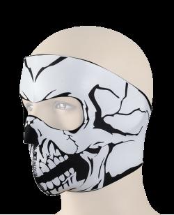 BOS Skull Staubmaske weiß one size