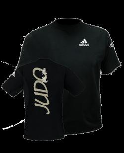 adiTS 01J Budo Spirit Judo T Shirt schwarz adidas