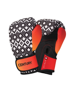 Century STRIVE waschbare Boxhandschuhe BRUSH STROKE 10oz schwarz/orange