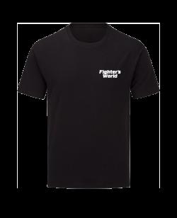 T-Shirt FIGHTERSWORLD Classic schwarz mit Bestickung