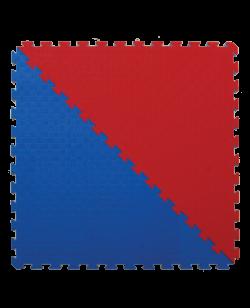 FW Kampfsportmatte Competition Dreiecke  2er Set rot/blau Puzzle Wendematte