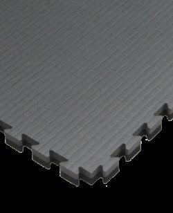 FW Kampfsportmatte Cushion 40mm 1x1m grau/schwarz Puzzle Wendematte