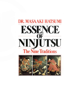 Buch, Essence of Ninjutsu - The Nine Traditions, Dr. Masaaki Hatsumi