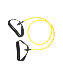 Expander - Gummi Trainingsband Tube gelb - leicht, ca. 140cm