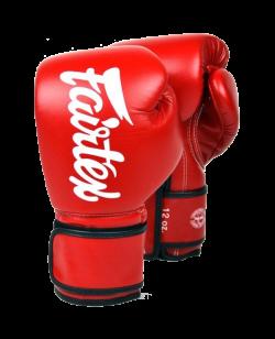 Fairtex Boxhandschuh Mikrofaser rot/schwarz BGV14