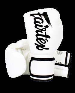 Fairtex Boxhandschuh Mikrofaser weiß/schwarz BGV14