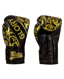 Fairtex Boxhandschuh GLORY schwarz/gold BGVG2