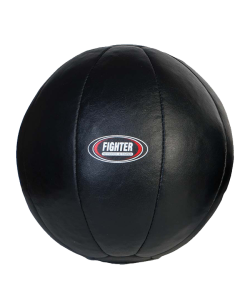 Medizinball Leder schwarz
