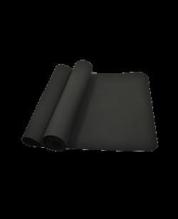 Fitness & Yoga Matte schwarz 183 cm x 61 cm Dicke ca. 5 mm